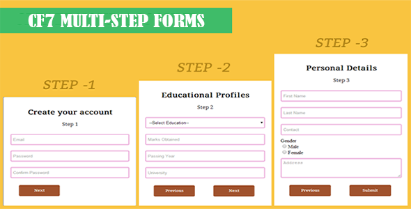 Contact Form 7 - CF7 Multi-Step Forms