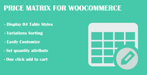 Price Matrix for WooCommerce